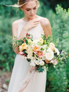 Photography : Michael and Carina Photography | Floral Design : White Magnolia Designs | Wedding Dress : Shop Gossamer Read More on SMP: http://www.stylemepretty.com/2015/07/02/european-garden-bridal-inspiration/