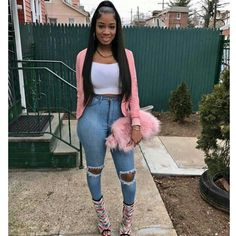 // Jeans by Fashion Nova // Fashion Look by Dope Outfits, Casual Outfits, Fashion Outfits, Womens Fashion, Fashion Trends, Fashion Bloggers, Latest Fashion, Black Girl Fashion, Outfit Goals