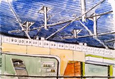 #264 - Shanghai Ceiling This is part of the ceiling of Shanghai airport - sketched in watercolour and ink, on my way to the UK from the Philippines. I decided that the whole thing was way too complicated to sketch - but maybe I'll give it a try on the way back. Thu-22-Dec-2016 https://artchapenjoin.wordpress.com/2016/12/25/264-shanghai-ceiling/ #Art #Sketch #Ink #Drawing #Painting #Usk #Urbansketching #Urbansketchers #Watercolour #WorldWatercolorGroup #Airport