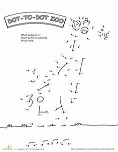 A giraffe dot-to-dot might be just the thing for your zoo lover. Try this giraffe dot-to-dot with your child, and be challenged with an added twist.