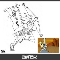 SamuraiJack_AndyBialk_01 Character Designer, Character Creation, Samurai Jack, Drawing Techniques, Drawing Tips, Book Of Life, The Book, Cartoon Network, Jack And Jack