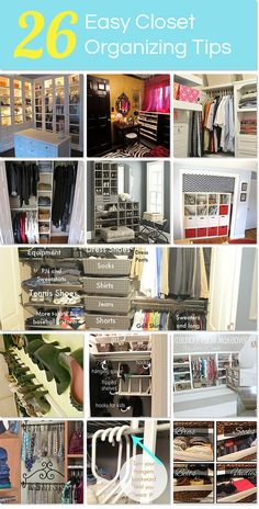 26 Easy Closet Organizing Tips