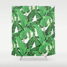Brazilliance Inspirierte Duschvorhang   Bananenblättern   Trauben   Green  Leafu2026