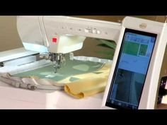 ▶ Baby Lock Ellisimo Embroidery and Sewing Machine - Applique Placemat Project - YouTube