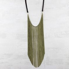 Brown Leather Long Necklace