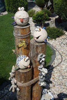 Fish Garden Ceramics - Fish Garden Ceramics Best Picture For garden art For Your Taste You are looking for something, an - Garden Crafts, Diy Garden Decor, Garden Projects, Fish Garden, Cat Garden, Garden Soil, Gardening, Japan Garden, Design Jardin