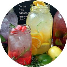 """Naturally Flavored Water -- An easy formula for making an endless variety of fruit and herb infused waters. Say goodbye to soda, juice, and bottled water with these refreshing, healthy """"spa water"""" flavors! by Jaime Hudson Refreshing Drinks, Summer Drinks, Fun Drinks, Healthy Drinks, Healthy Recipes, Beverages, Simple Recipes, Summertime Drinks, Delicious Recipes"""