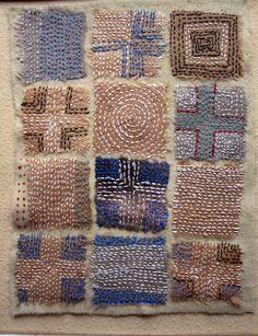 how to boro quilt sashiko Ribbon Embroidery, Embroidery Art, Embroidery Stitches, Embroidery Designs, Embroidery Scissors, Embroidery Supplies, Cross Stitches, Machine Embroidery, Fabric Art