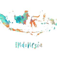 indonesia map Indonesia map IndonesiaYou can find indonesia map and more on our website Map Wallpaper, Country Maps, Framed Prints, Canvas Prints, Watercolor Map, Instagram Logo, Instagram Highlight Icons, Map Design, Graphic Design Posters