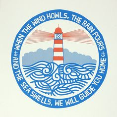 Really, really want this print. The waves look like Koru. It feels like home.  Image of We Will Guide You  Screen Print