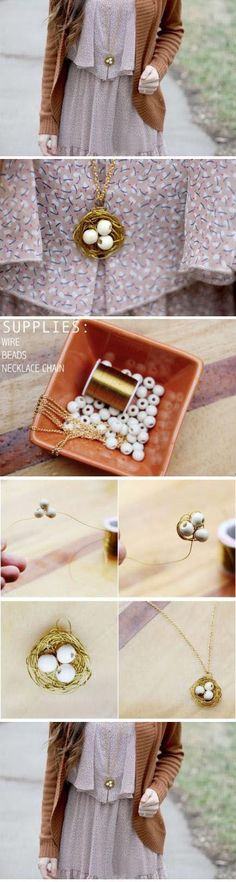 Diy Beautiful Jewellery | DIY & Crafts Tutorials~ it's copper wire which is why it stays put so well. hmmm...