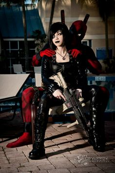 Domino and Deadpool // X-Men // 1 by komizuka.deviantart.com on @deviantART