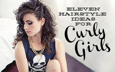 Eleven Hairstyles for Curly Girls by Delightfully Tacky- this girl has amazing curly hair and she even cuts it her self!!