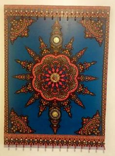Eclectic Sun - Eclectic Walls Memorizing colors and design that bring a room to life. This mixed media wall art comprised of African wax fabric adorned with brass, glass, and glass beads mounted on a wood frame. Media Wall, Electric Blue, Glass Beads, Mixed Media, African, Tapestry, Culture, Wall Art, Interior Design