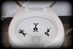 Potty Training sticker, Taking Aim toilet targets cute silly ALIENS: THREE piece collection Toilet bowl decal on Etsy,