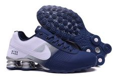 Mens Nike Shox Deliver Deep Blue White Trainers Running Shoes Sneakers