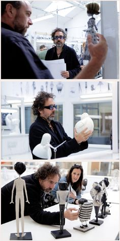 Tim Burton, behind the scenes of Frankenweenie (2012)