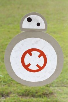 Stained glass BB-8 kids craft for star wars the force awakens
