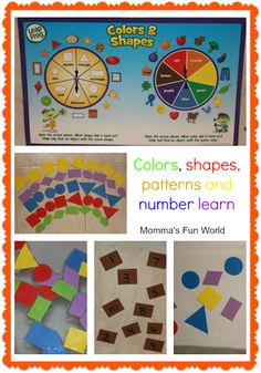 Rainbow colors, shapes, numbers and pattern learning. Great for an activity center in the class room.