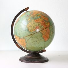 Never thought my globe from when I was a little girl would be considered vintage... old??? perhaps, vintage...