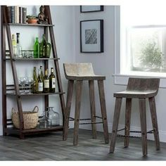 Scandinavian Designs - The Bastian counter stool adds a simple ...