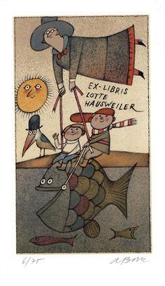 Ex libris by Adolf Born