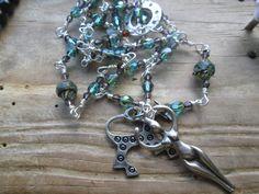 Path of Rhiannon, Goddess Rhiannon, goddess prayer beads, goddess mala, goddess rosary, rhiannon rosary, celtic rosary, celtic prayer beads by MagickAlive on Etsy