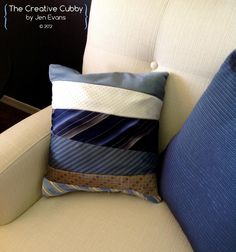 The Creative Cubby: Preppy Projects Week: Tie Pillow