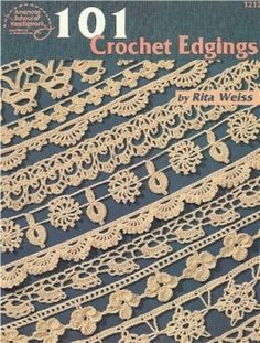 Dozens of pattern diagrams for lacy edgings.  Click any image to open it in larger view.  #crochet