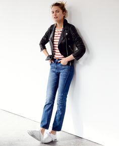 madewell cruiser straight crop jeans. #denimmadewell