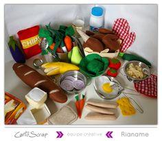 Dinette en Feutrine par Rianame - blog de Cartoscrap