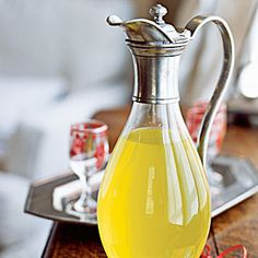 Homemade Limoncello...just don't drink a whole bottle before The View.