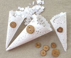 diy doily cone - Google Search