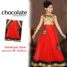 Showcase your innocence and liveliness only with #Chocolate #Family  www.chocolatefamily.com  #FashionforGirls
