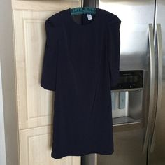"""H&M dress 17"""" sleeves, 35"""" long. 97% polyester, 3% elastane. Shoulders have a cute puffy sleeve design (3rd picture). Back has a sheer panel (4th picture). H&M Dresses Mini"""