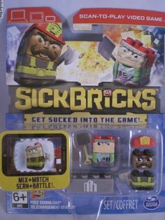Sick Bricks Double Pack Smokey Burns & Gus Groucho Hot VHTF #SpinMaster
