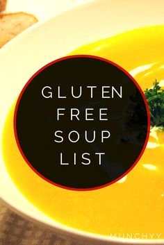Gluten Free Soups – The Ultimate Guide Here's the complete listing of all gluten free soups and brands that you can find at your local grocery store or some online shops. Gluten Free Fast Food, Gluten Free Brands, Gluten Free Menu, Gluten Free Living, Gluten Free Dinner, Foods With Gluten, Gluten Free Cooking, Gluten Free Desserts, Vegan Gluten Free