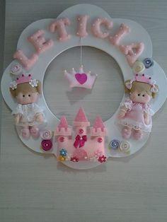 Enfeite de porta princesas