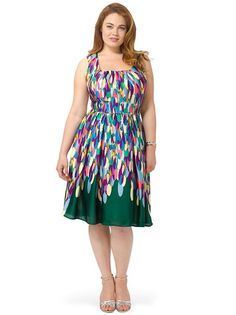 Plus Size MM2 Forest Feather Tank Dress