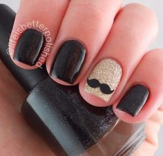 In look for some nail designs and ideas for the nails? Here is our list of 18 must-try coffin acrylic nails for trendy women. Glitter Nail Art, Gel Nail Art, Acrylic Nails, Nail Polish, Glitter Photo, May Nails, Love Nails, Hair And Nails, Mustache Nail Art