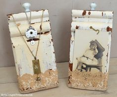 Necklace display and picture holder created architectural salvage. MySalvagedTreasures.com