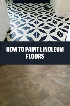 How to paint linoleum vinyl flooring. An easy and inexpensive way to transform a room. DIY B Painting Laminate Floors, Laminate Flooring Diy, Paint Linoleum, Vinyl Flooring Bathroom, Luxury Vinyl Tile Flooring, Bathroom Vinyl, How To Paint Floors, Bathroom Showers, Bathrooms