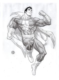 Shazam by rogercruz on DeviantArt Captain Marvel Shazam, Deviantart, Comics, Artwork, Work Of Art, Auguste Rodin Artwork, Comic Book, Comic Books, Comic
