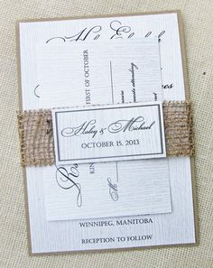 Wedding Diy Invitations Rustic Country For 2019 Burlap Wedding Invitations, Wood Invitation, Diy Invitations, Wedding Stationery, Invitation Ideas, Invitation Design, Wedding Paper, Diy Wedding, Wedding Ideas