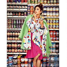 """""""Supermarket Sweep"""": Pretty Little Liars' Shay Mitchell by Chris Craymer for Vogue India September 2014 Fashion Shoot, Editorial Fashion, Editorial Photography, Fashion Photography, Creative Photography, Photography Ideas, Supermarket Sweep, Vogue India, Shay Mitchell"""
