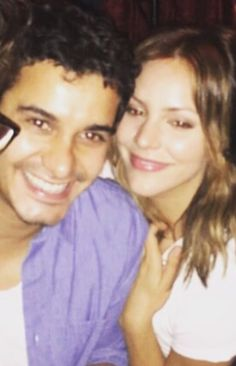 Scorpion Co Stars and Real Life Couple: Elyes Gabel and Katharine McPhee at Co Star Ari Stidham birthday party in LA.