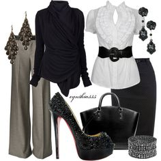 Work Clothes | Black Louboutin Shoes | Fashionista Trends