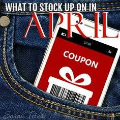 In order to save the most amount of money, you want to stock up when things are at their rock bottom prices. This month you'll find some really great deals on… Baking supplies such as sugar and spice and everything nice , baking mixes, flour, chocolate chips, and refrigerated cookie dough Earth Day items such{Read on...}