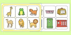 Dear Zoo Matching Activity - animals, comparing, match, KS1, key