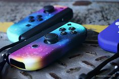Galaxy - Switch Nintendo - Switch Nintendo for sales - - Galaxy Nintendo Switch Joy-Cons Custom Controllers Controller Chaos Xbox, Playstation, Advance Wars, Katamari Damacy, Nintendo Switch Accessories, Gaming Accessories, Pokemon, Nintendo Characters, Nintendo Switch Games